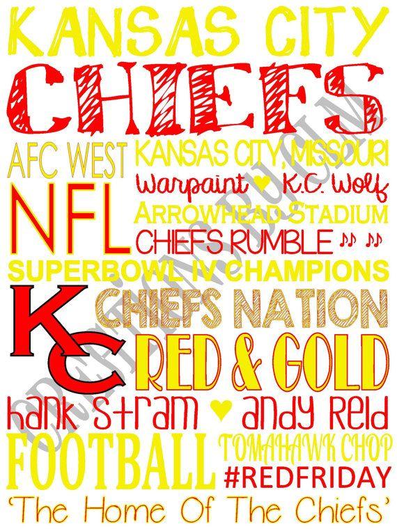 9 x 12 SubwayArt Kansas City Chiefs. NFL. \'Rustic\' Looking Canvas by ...