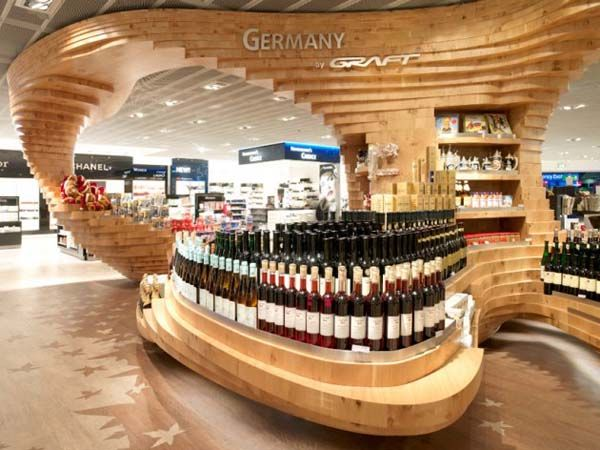 Modern Retail Design Frankfurt Regionals Wood Installation By