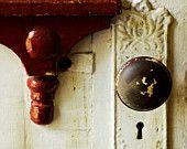 Knock knock. Greeting card, home decor