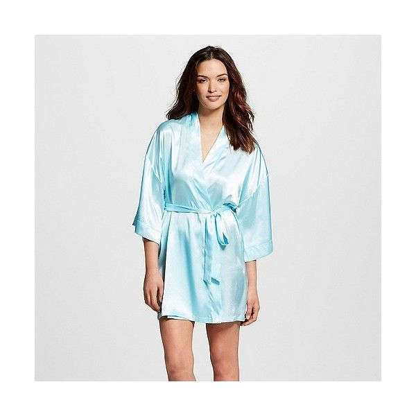 Women\'s Bridesmaid Robe Turquoise Feather / ($22) ❤ liked on ...