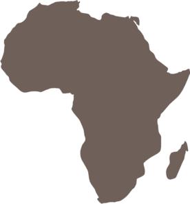 Africa Map clip art   vector clip art online, royalty free