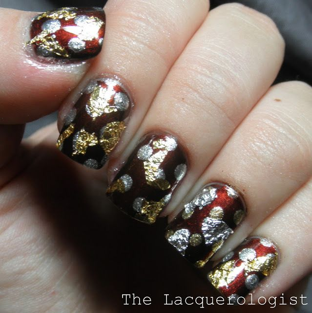 The Lacquerologist: Antique Meets Modern Fall Manicure featuring Nail Art Society!