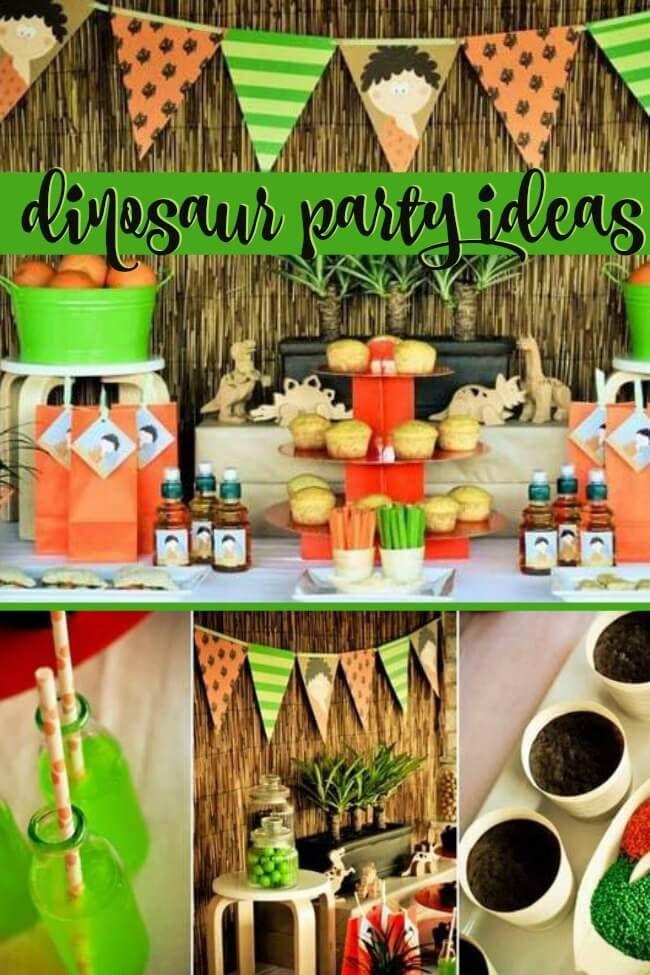 A Prehistoric Dinosaur Birthday Party Kids themed