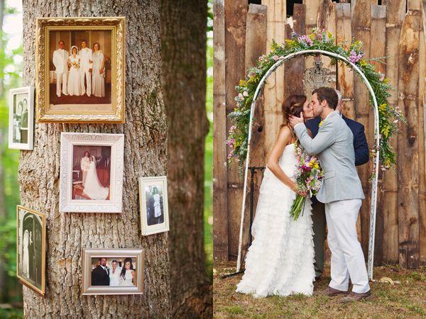 family photos on the trees?