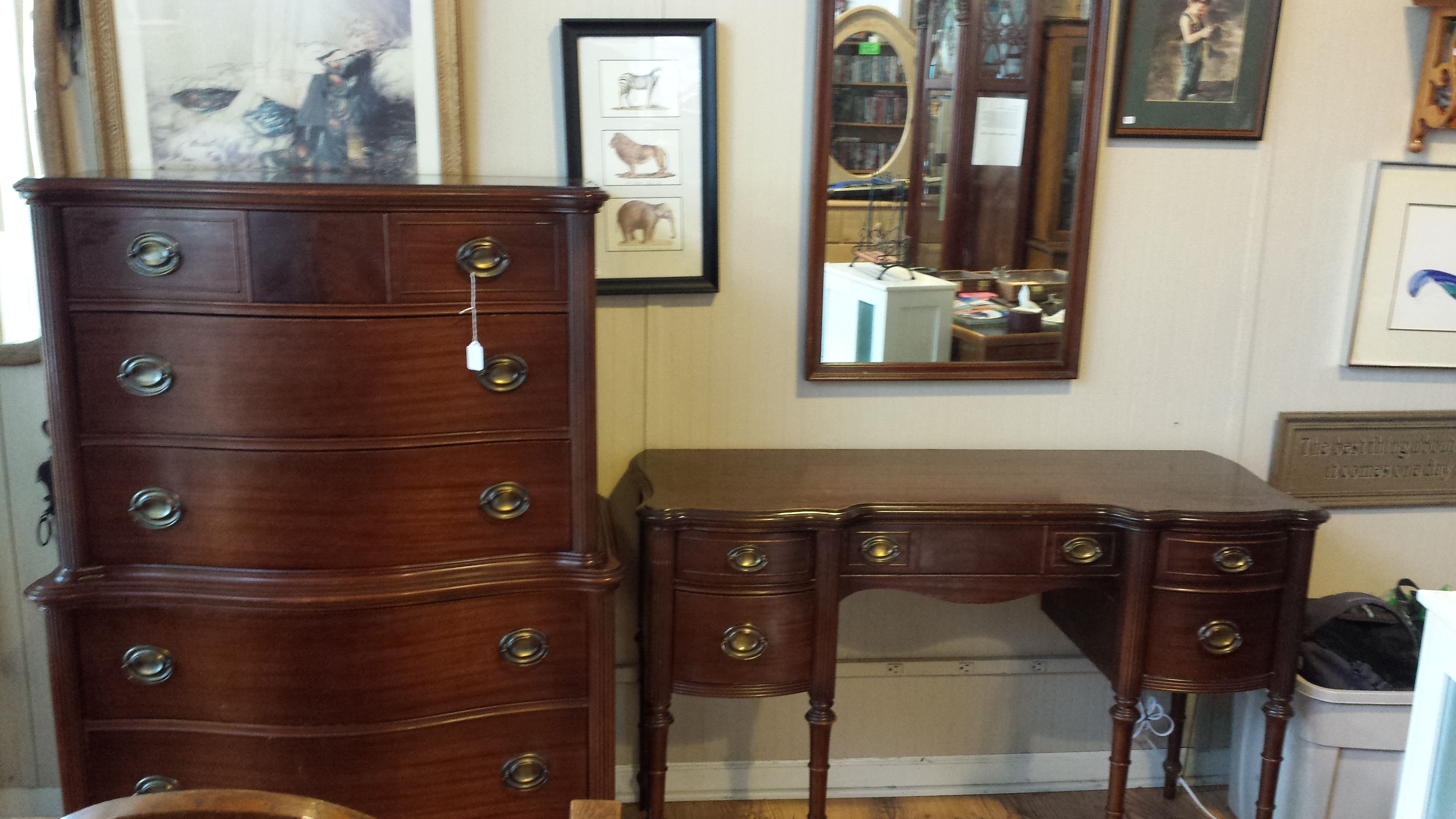 Mahogany Chest Of Drawers Amp Matching Vanity By Huntley