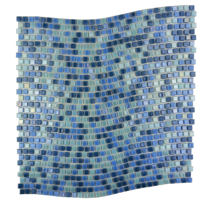 Galaxy Wavy 0 25 X 0 25 Glass Mosaic Tile Mosaic Tiles Glass Mosaic Tiles Mosaic Wall