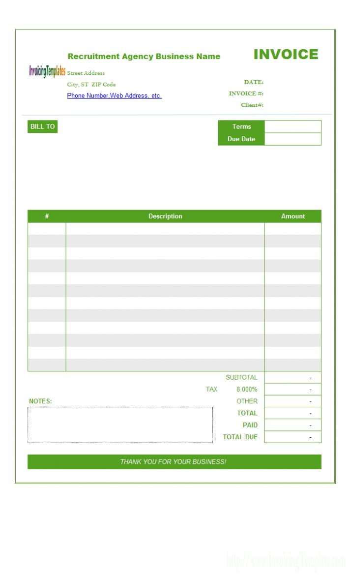 Legal Billing Template Invoice Template Recruitment Agencies Templates Free Design