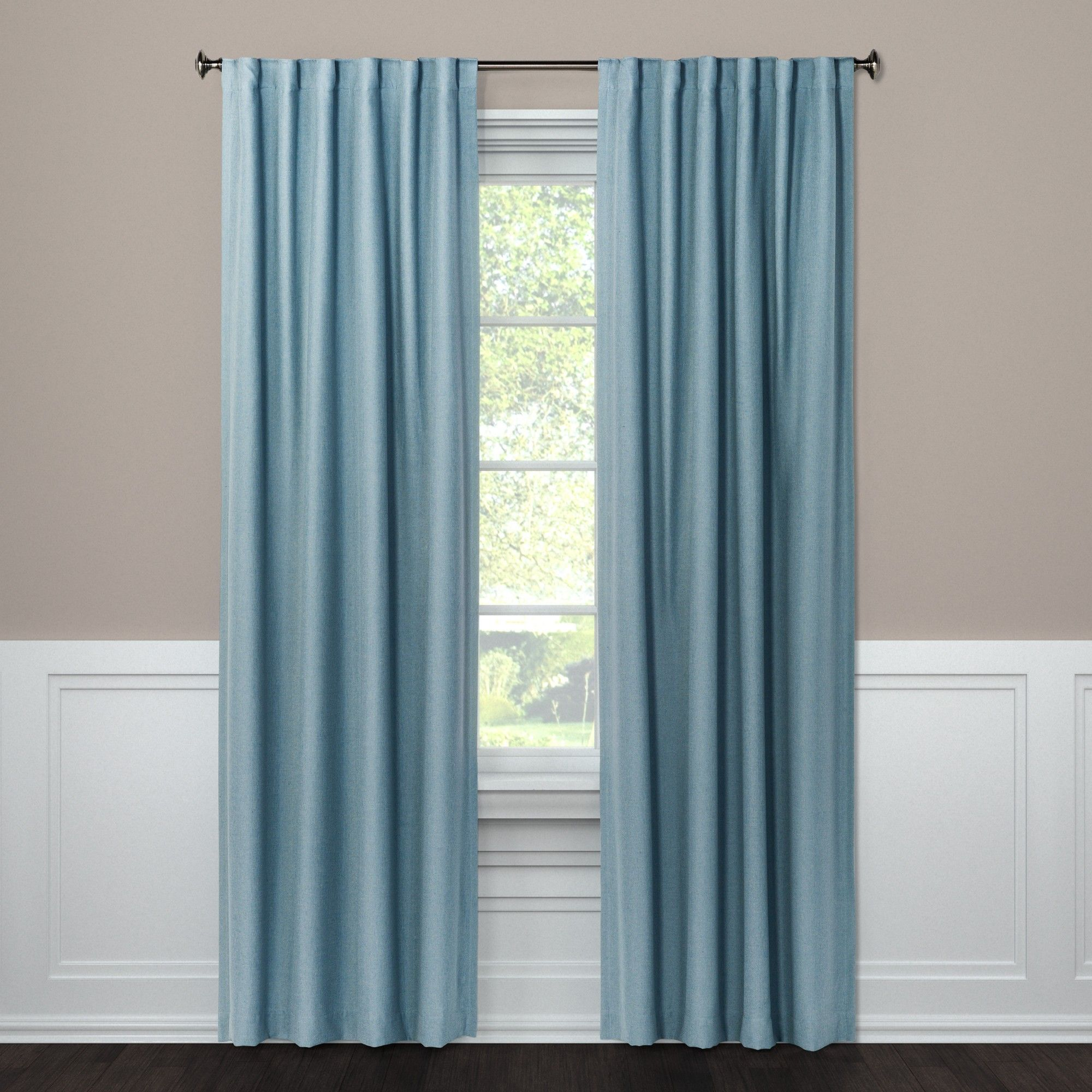 108 Blackout Curtain Panel Aruba Blue Threshold Panel