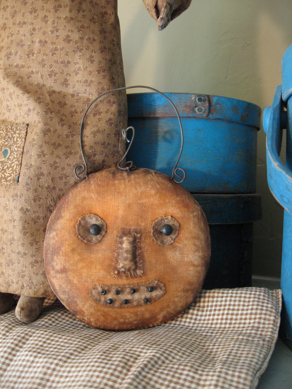 Pumpkin Face Schneemanfolkart Fall