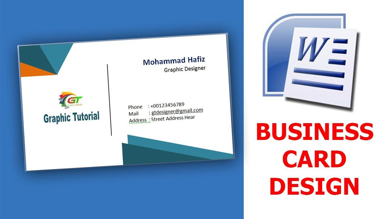 Making Business Cards In Microsoft Word Business Card Design Business Card Design Vertical Business Cards Visiting Card Design