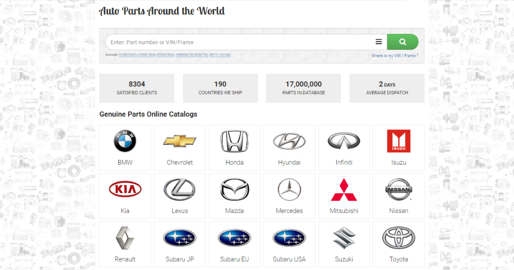 Toyota Parts Nissan Parts Mitsubishi Parts Oem Parts New Oem