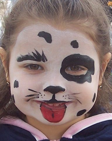 Dalmation Face Animal Face Paintings Dog Face Paints Puppy Face Paint