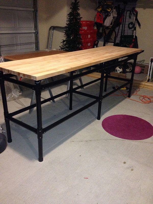 Butcher Block Workbench >> Ikea NUMERÄR counter top PVC workbench | Countertops, Ikea ...