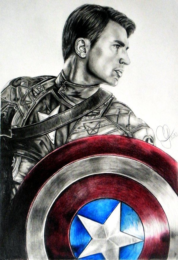 Captain America By Schoerie On Deviantart Captain America Drawing Captain America Sketch Captain America Art