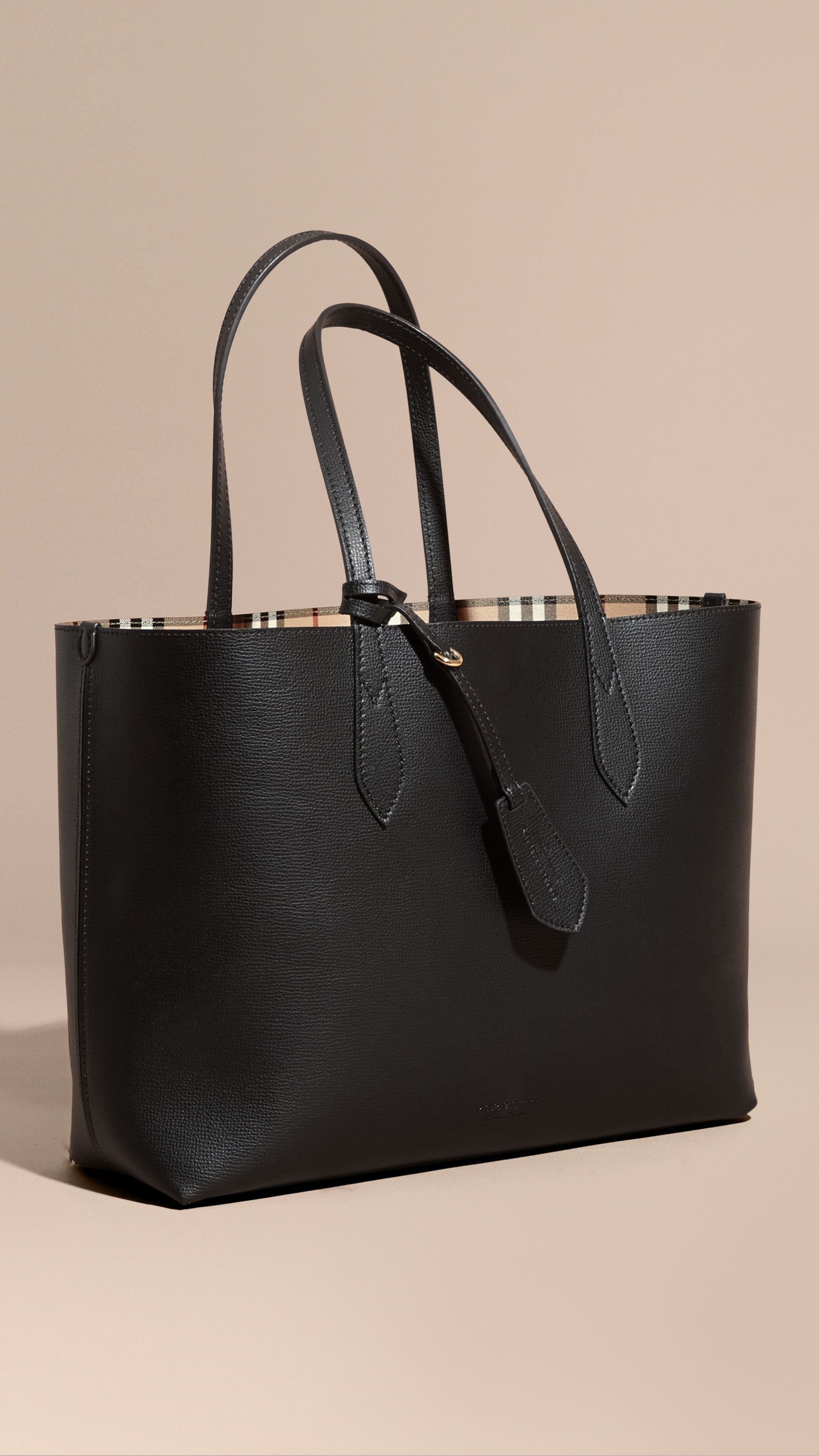The Medium reversible tote bag - Black Burberry mpeGNXwh