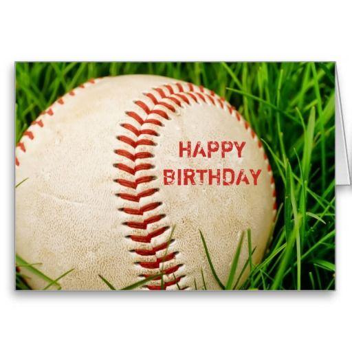 Baseball Happy Birthday Card Zazzle Com With Images Happy