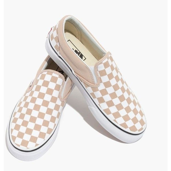 vans classic slip on trainers frappe true white checkerboard