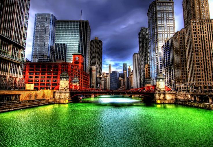 115 365 Chicago Green River Chicago Wallpaper Chicago River