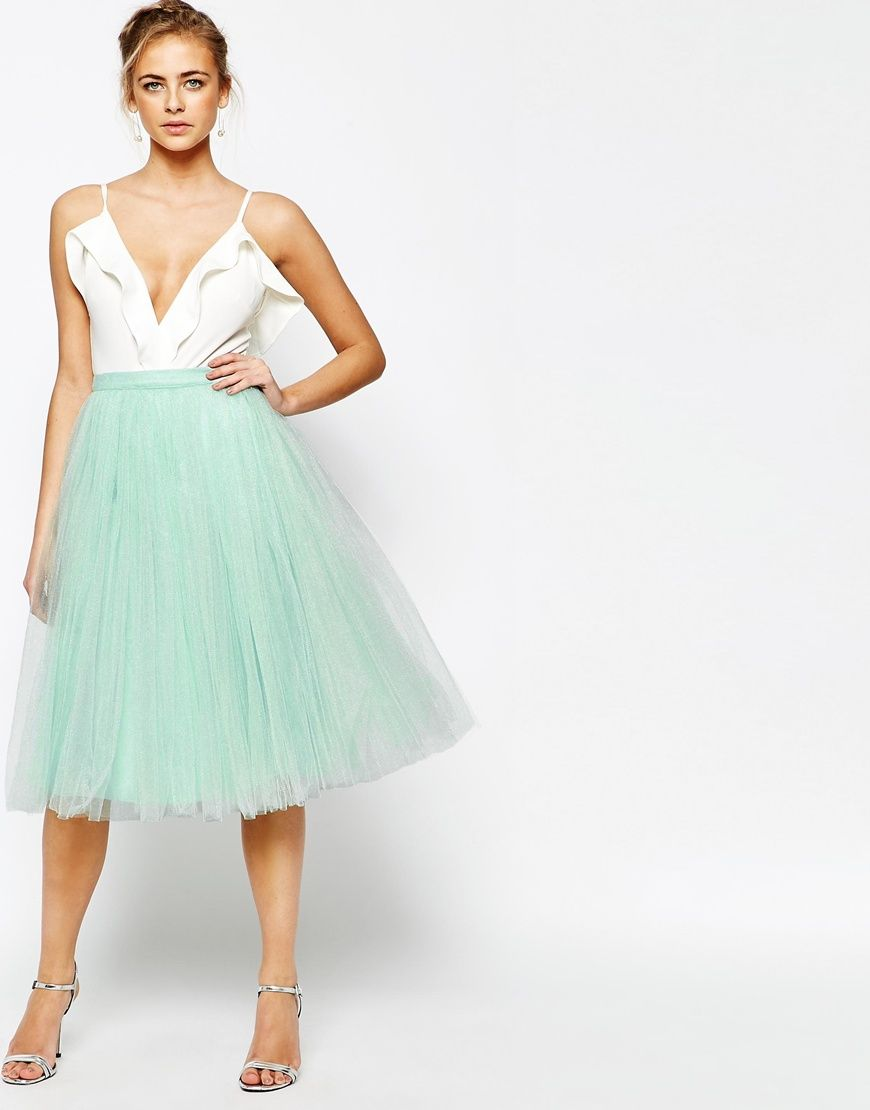 2a48eedb2 Little Mistress Midi Tulle Skirt | Rags | Faldas, Ropa de moda, Tul