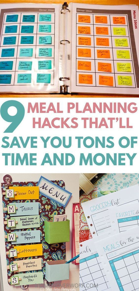 10 SUPER Easy Meal Planning Tips & Hacks to Try images