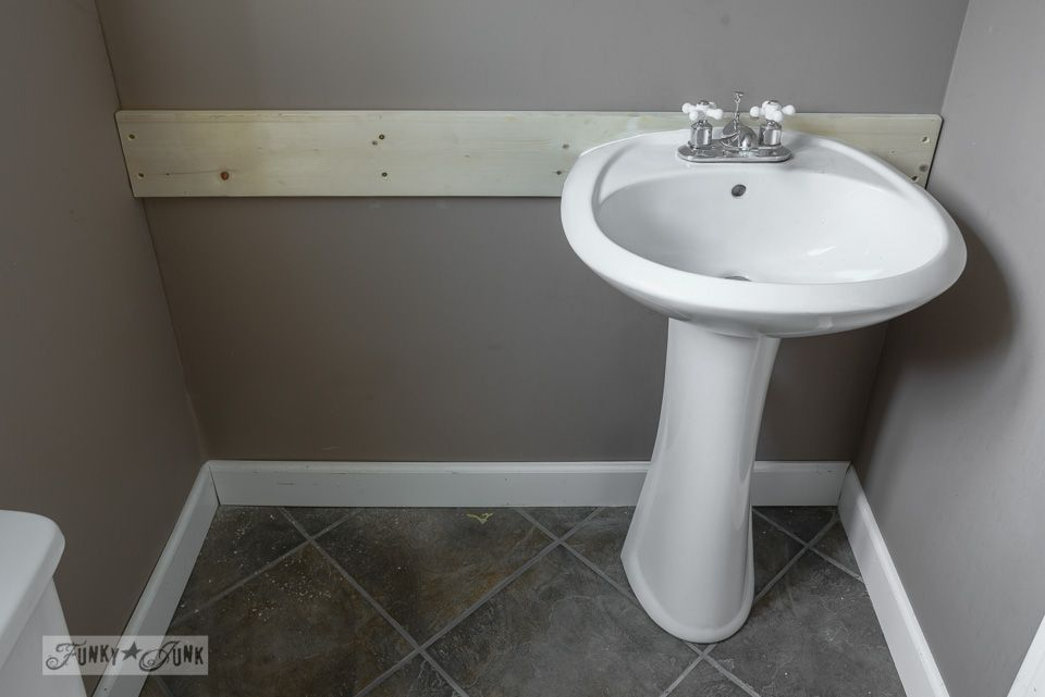 How To Install A Pedestal Sink Without Wall Studs Modern