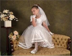 Plus size first communion dresses -elegant first holy ...