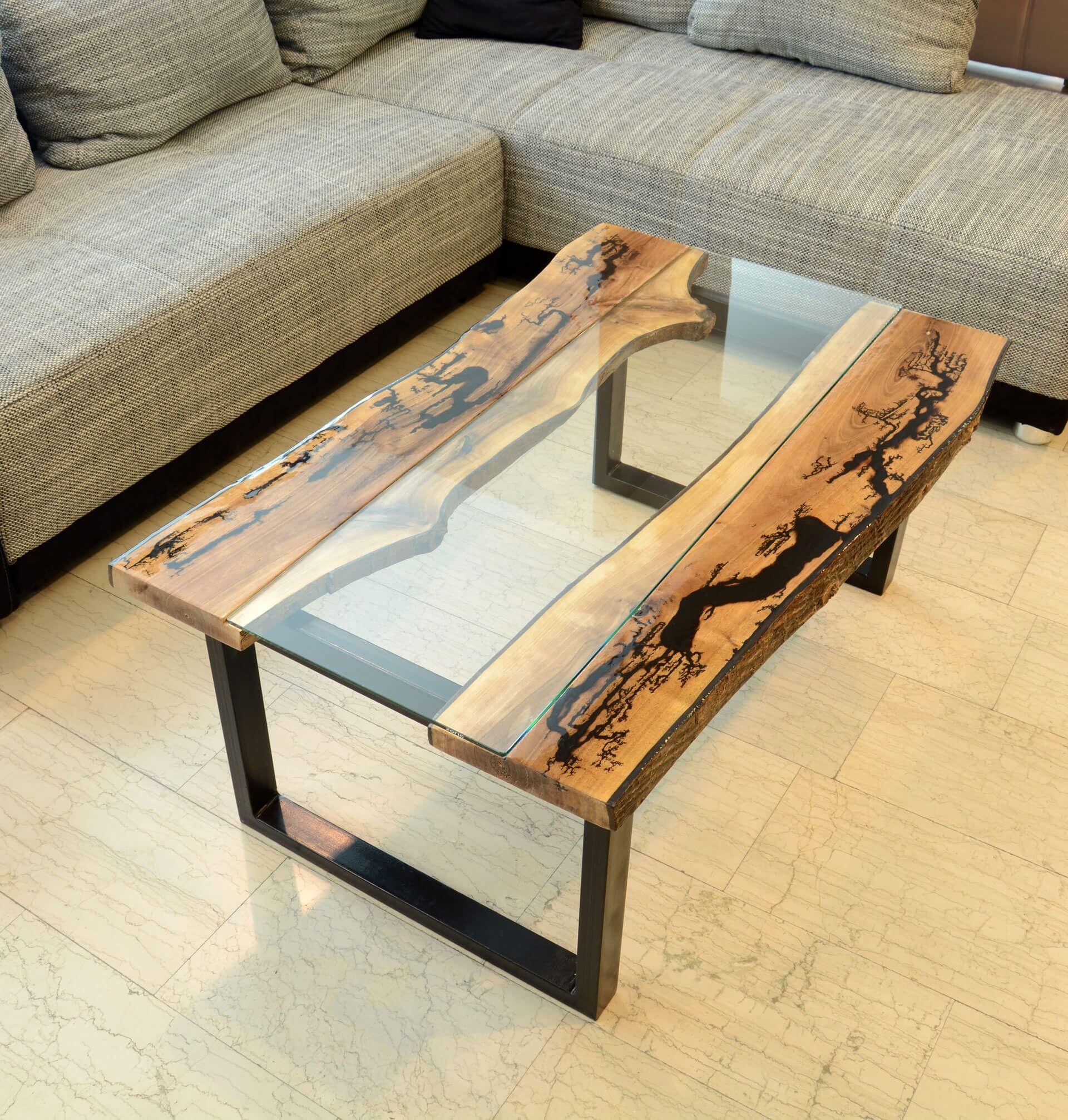 Walnut Wood Burn Glass Coffee Table Coffee Table Table Painting Wood Furniture [ 2013 x 1920 Pixel ]