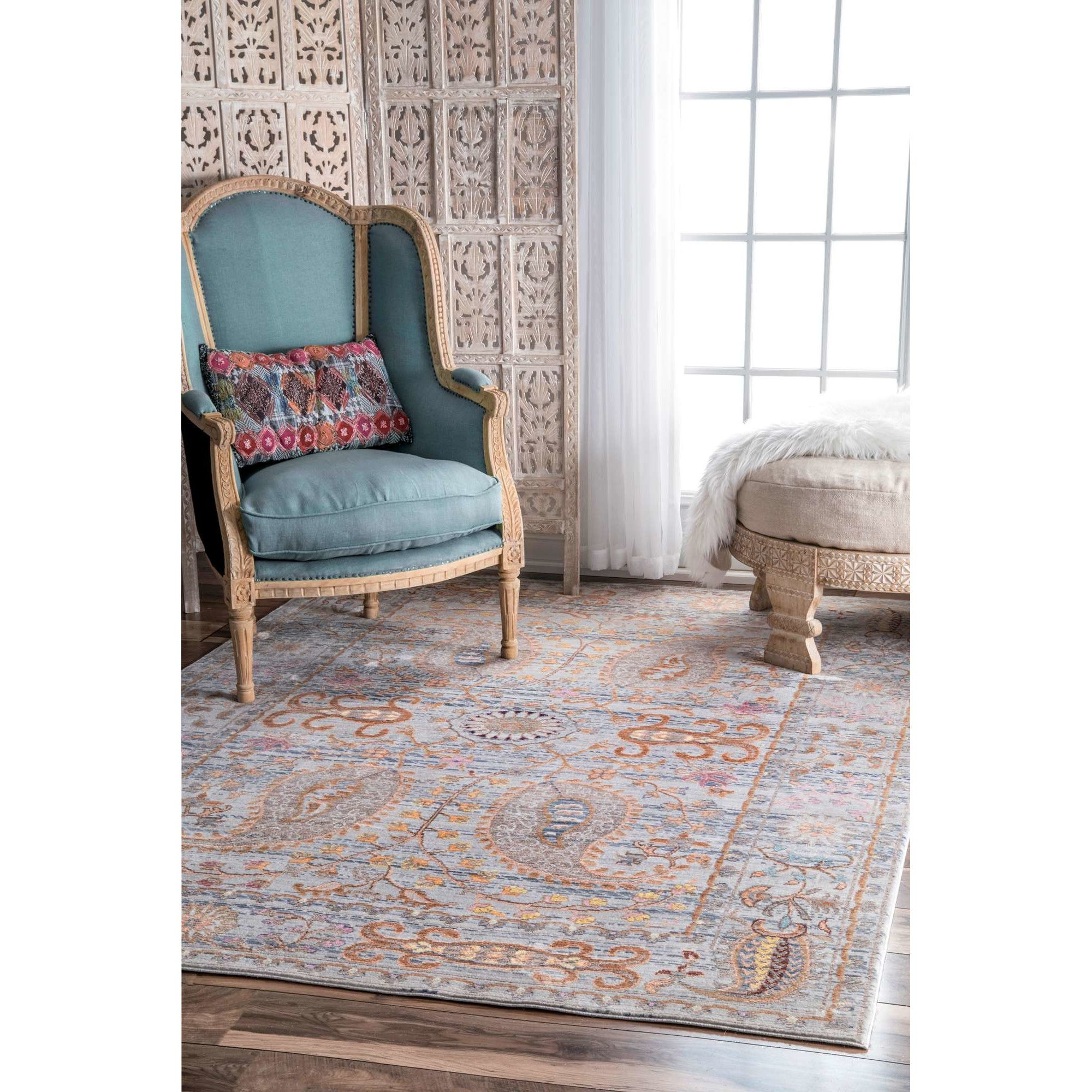 Asrani Gray Area Rug By Bungalow Rose Light Grey Area