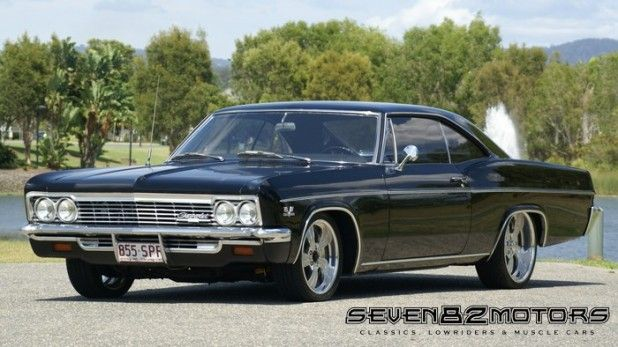 1966 Chevy Impala Fastback Black J Classic Cars Muscle 1966