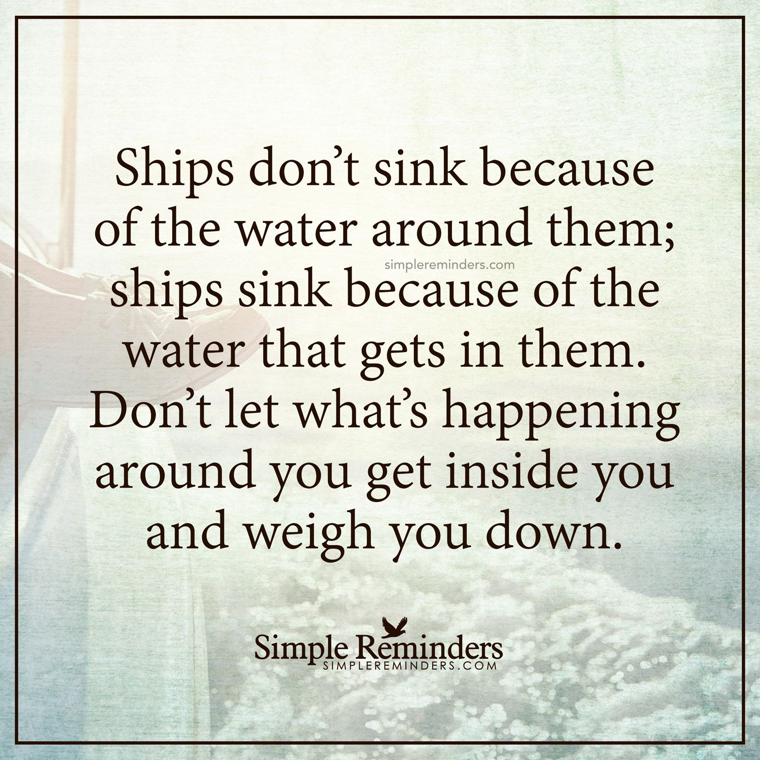 Why do not the ships sink