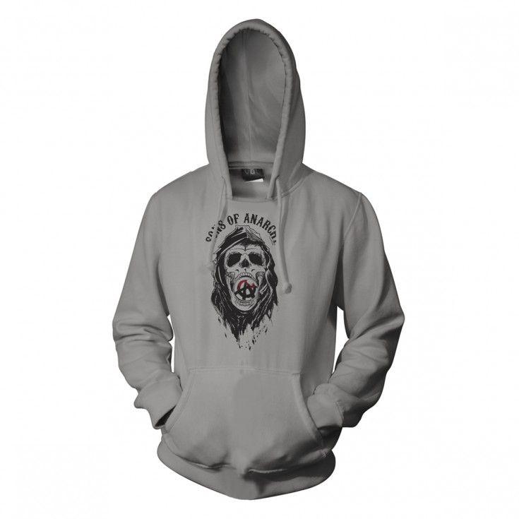 Sons Of Anarchy Reaper Grim Skull Hoodie Fx Shop Hoodies Sons Of Anarchy Reaper Skull Hoodie