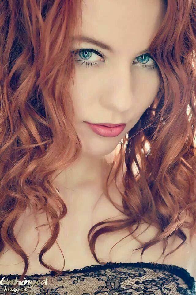 Redhead, blue eyes, curly!