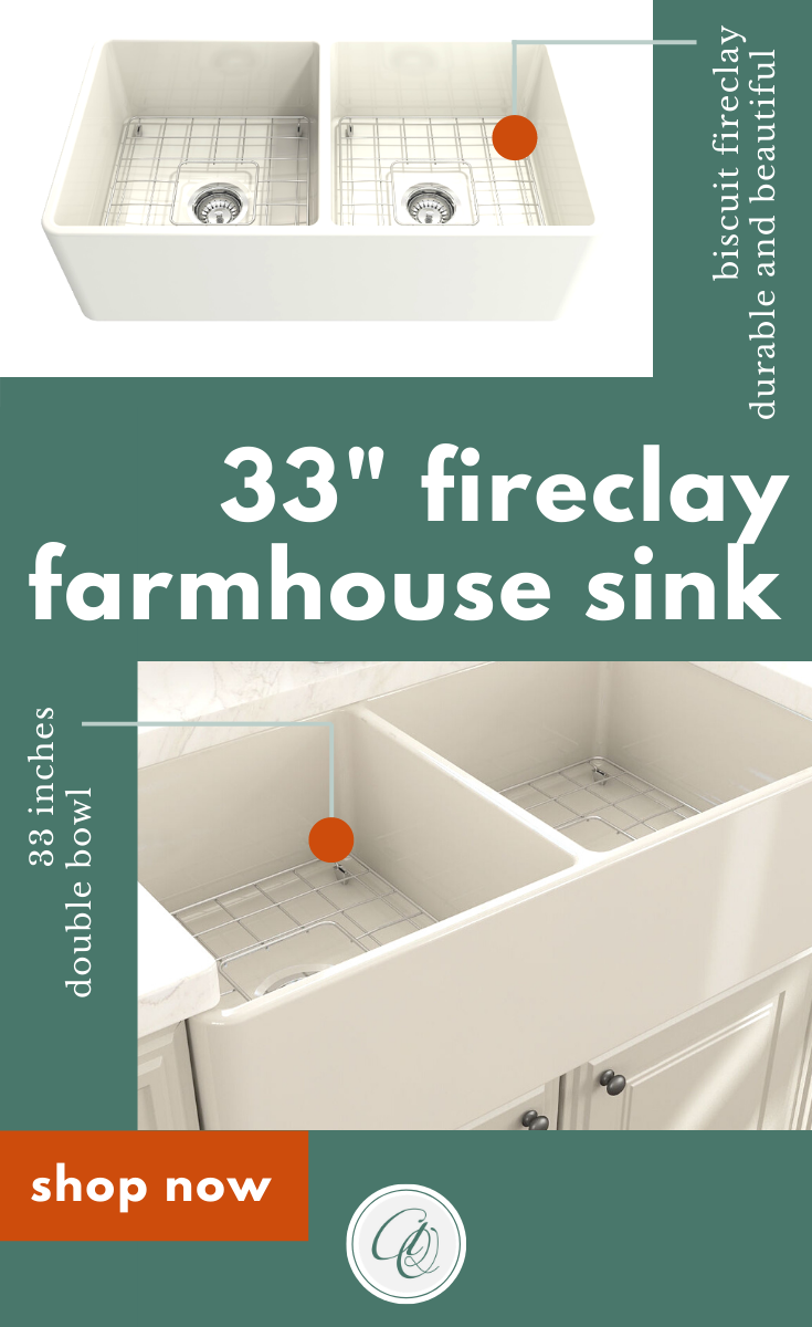 Bocchi Classico 33d Biscuit Double Bowl Fireclay Farmhouse Sink W