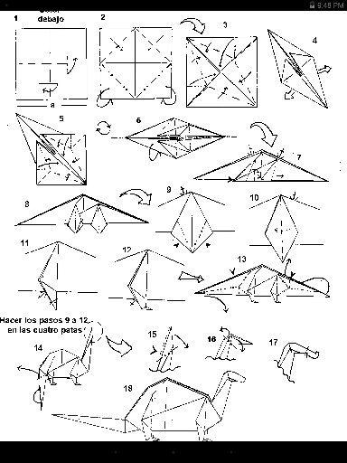 Origami Brontosaurus