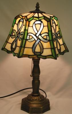 Celtic Top Pleated Lamp Stained Glass Lamps Cordless Table