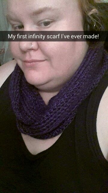 My first crocheted infinity scarf! Original idea from: https://youtu.be/aGsg4V1ffJk