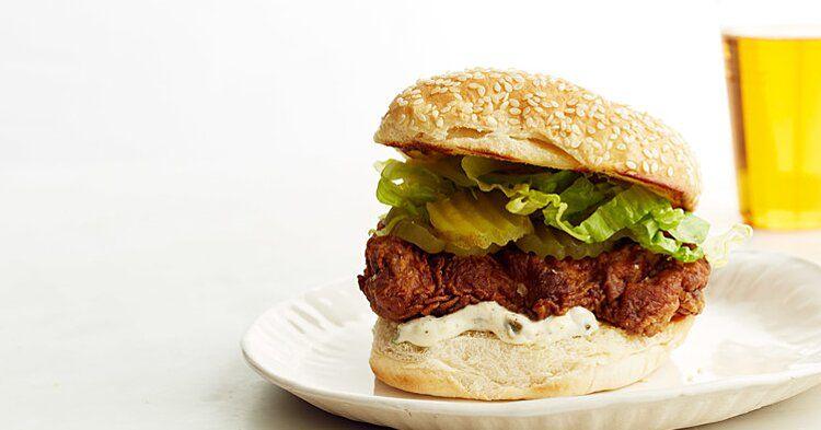 Fried Chicken Sandwich Recipe In 2020 Fried Chicken Sandwich Food Sandwiches