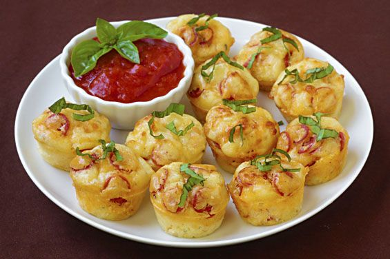 Pepperoni Pizza Puffs -- a perfect appetizer, snack, or just a fun alternative to pizza!
