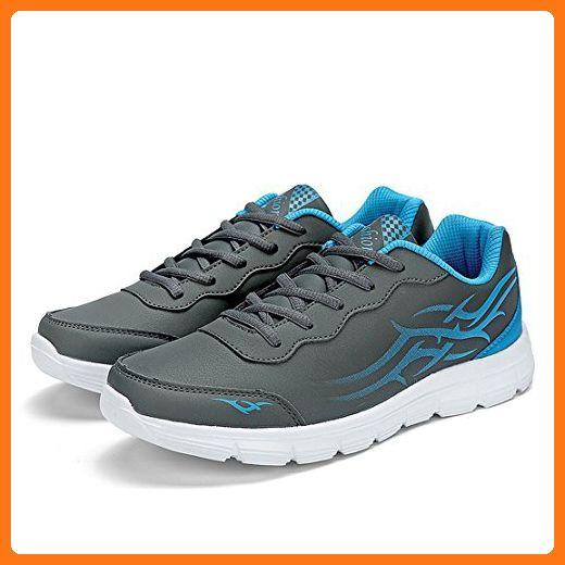 Mode Männer Frau Schuhe Herren Damen Beiläufig Sneaker Super Licht Sport Schuhe (EUR41, Grau) (*Partner Link)