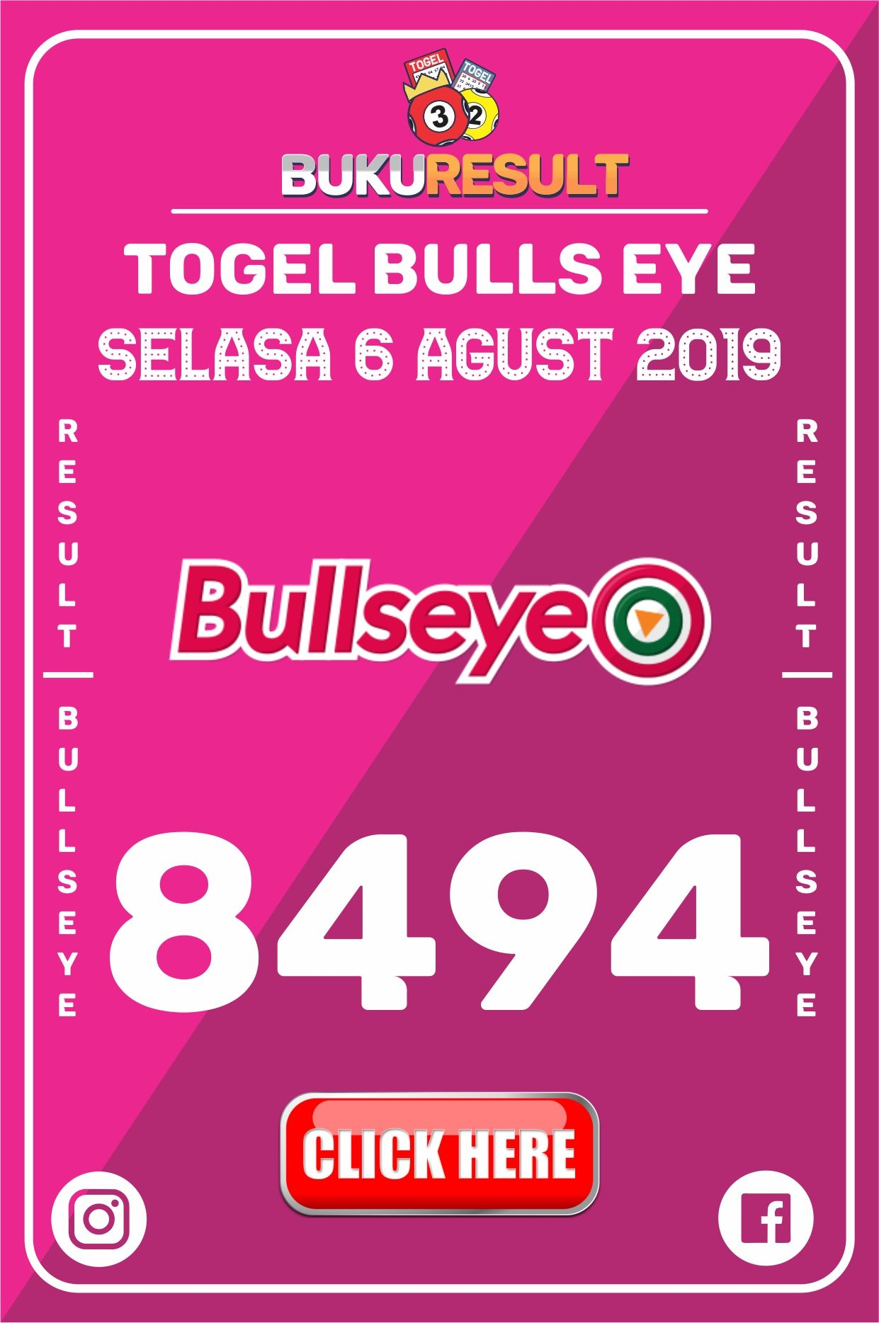 Result Togel Bullseye 2019 Minggu