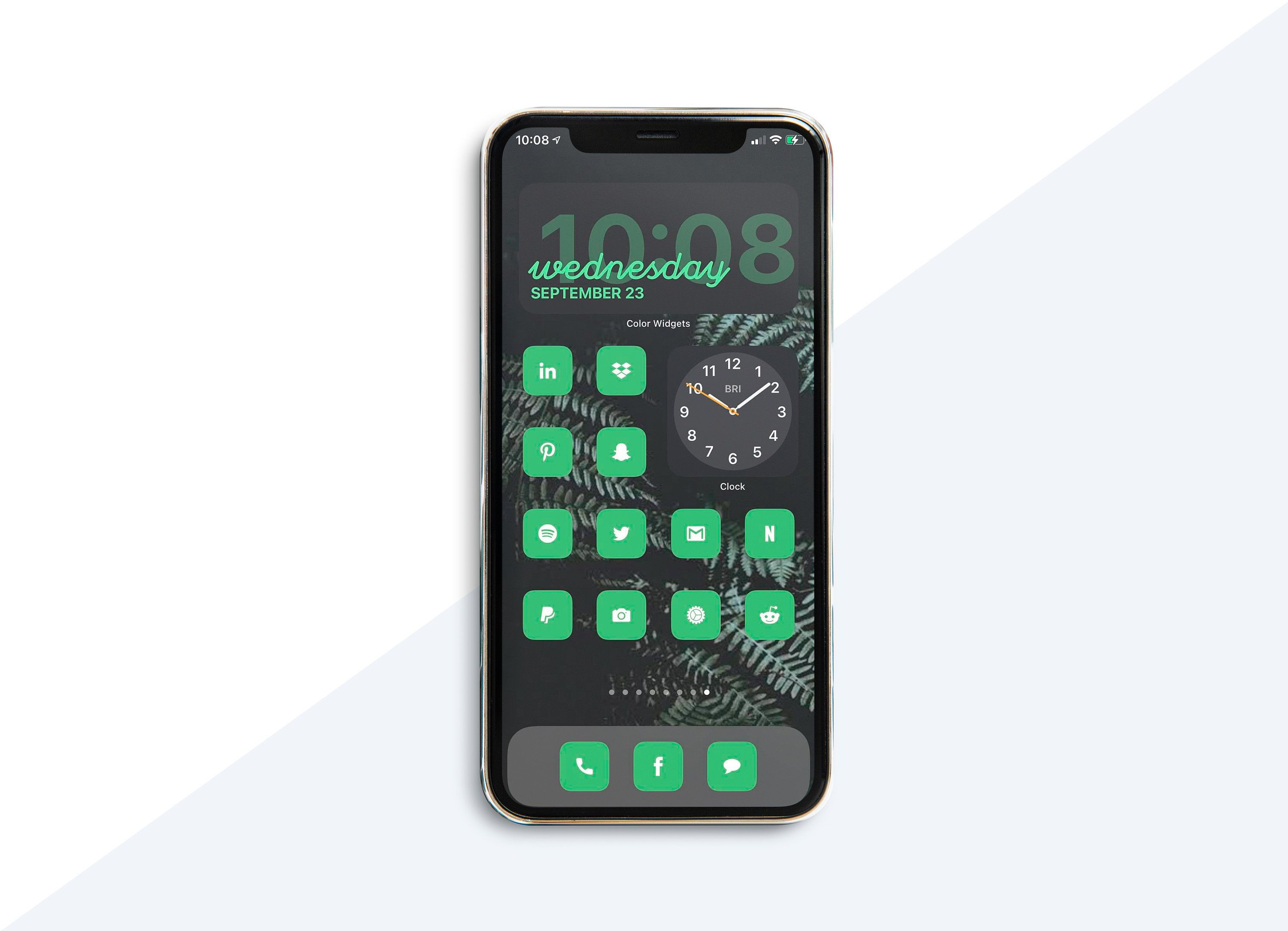 Ios 14 Aesthetic Icon Set Green And White Green Icons 48 Icons Icons Facebook Instagram Ios 14 Compatible App Icons Apple Ios In 2020 App Icon App Icon Design Apple Ios