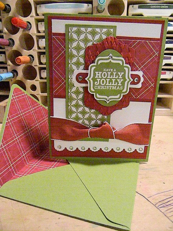 Stampin' Up Christmas Card Have a Holly by CoffeeandCardstock, $4.00