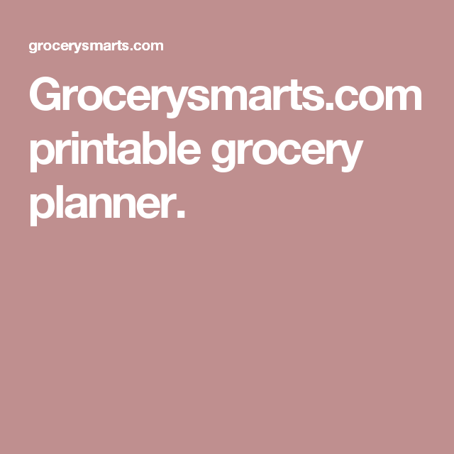 photograph about Grocerysmarts.com Printable Grocery Planner titled printable grocery planner. A.2 Discount codes