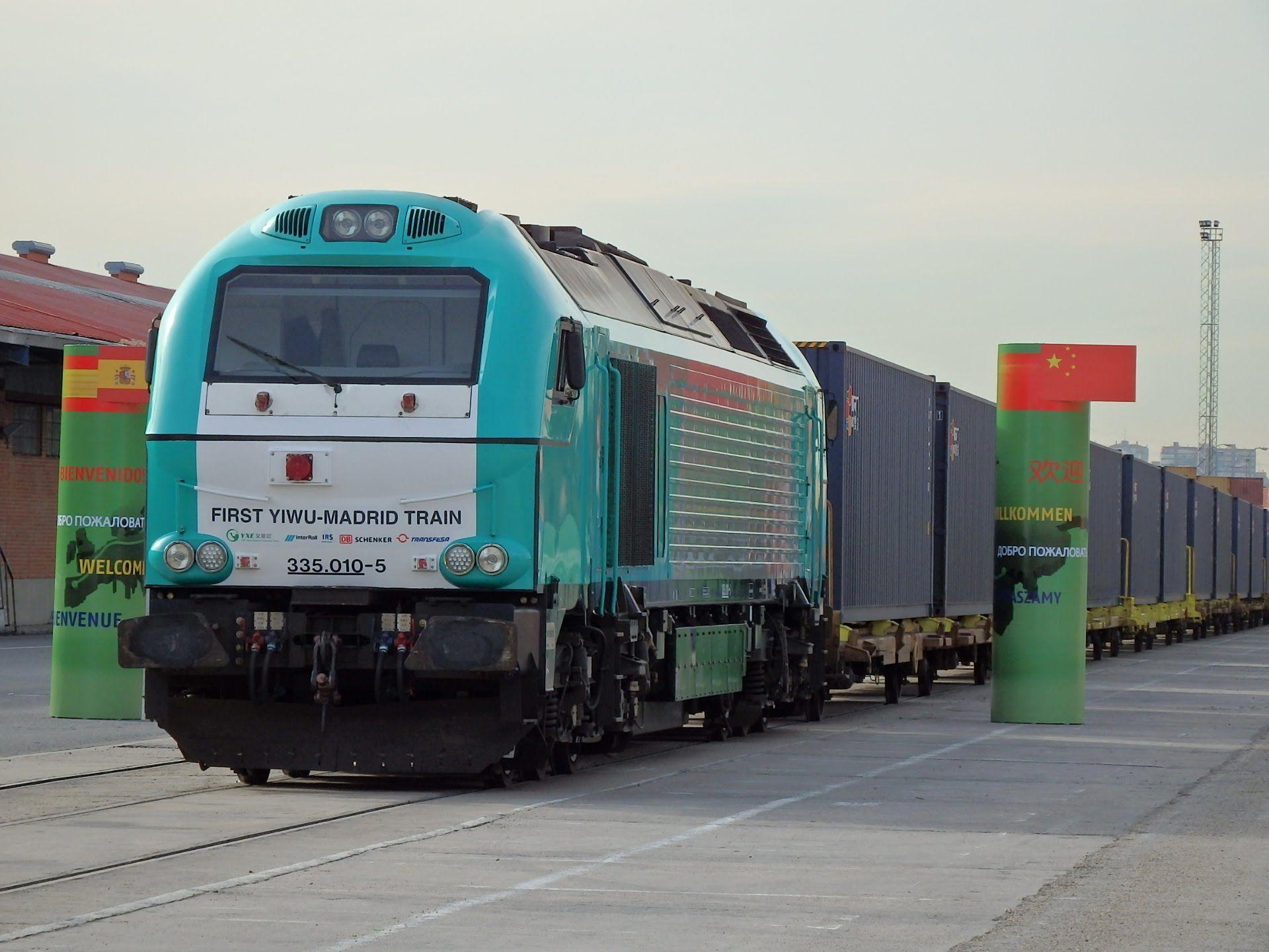 Llegada A Madrid Abronigal Del Primer Tren De Mercancias Directo Desde China Tren Entrenamiento Tren Antiguo