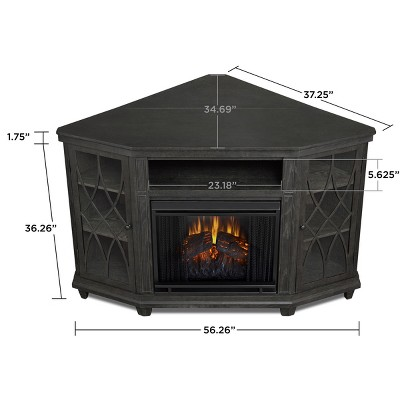 Real Flame Lynette Electric Fireplace Entertainment Center Gray