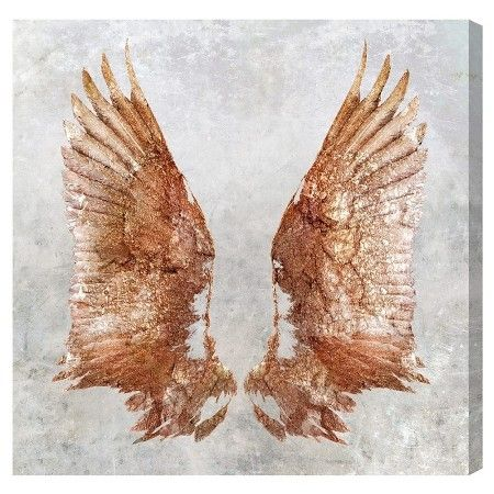 """Oliver Gal Unframed Wall """"Rose Gold Wings"""" Canvas Art : Target"""