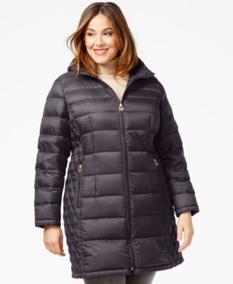 Woman Within Womens Plus Size Packable Puffer Jacket