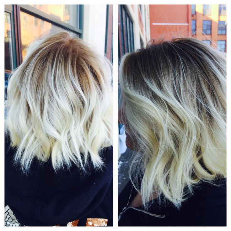 Image result for platinum balayage on dark hair