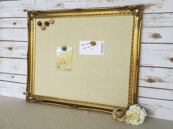 Magnetic board framed magnet board golden by YouMatterDesigns ...