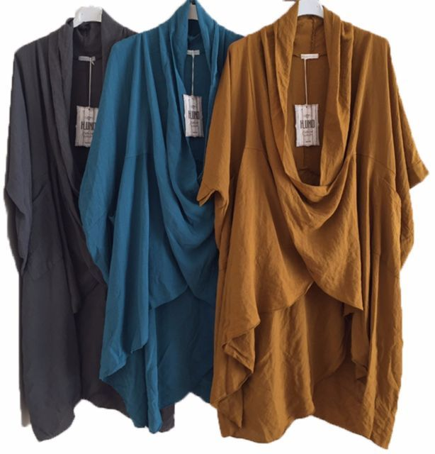 "Coco /& Juan Lagenlook Plus Size Turquoise Traveler Knit Asymmetric Top 1X2X B50/"""
